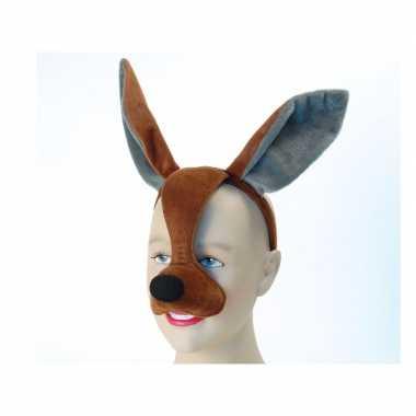 Feestartikelen kangoeroe masker met geluid