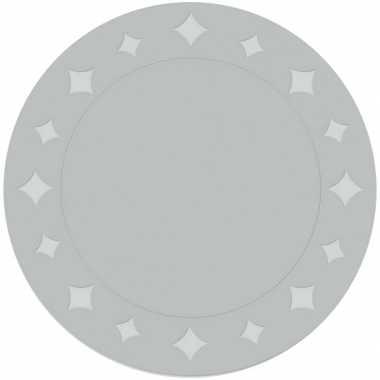 Feestartikelen placemats metallic zilver 10 stuks