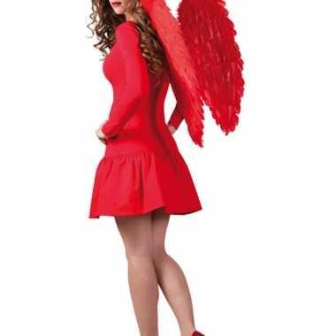 Feestartikelen rode engelen vleugels 65x65 cm