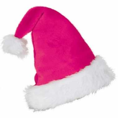 Feestartikelen roze kerstmuts