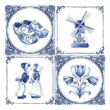 Feestartikelen servetten holland thema 40 stuks