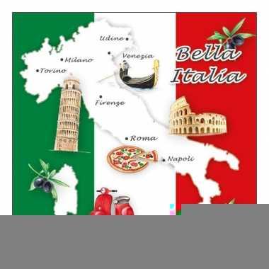 Feestartikelen servetten italie thema 20 stuks
