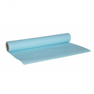 Feestartikelen tafelloper deluxe lichtblauw