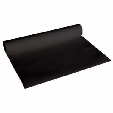 Feestartikelen tafelloper deluxe zwart