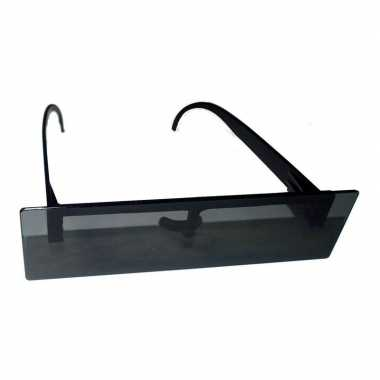 Feestbril met zwart censuur balkje