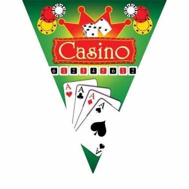 Feestdecoratie vlaggenlijn casino