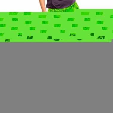 Feestkleding jeans legging neon groen