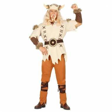 Feestkleding viking lichtbruin voor heren