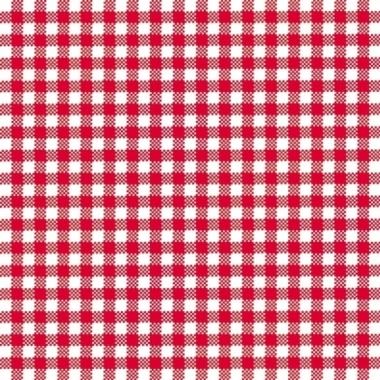Feestservetten geruit rood/wit 3-laags 20 stuks