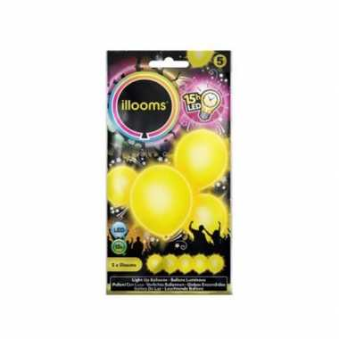 Feestverlichting gele led ballonnen