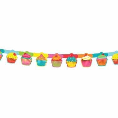 Feestversiering slinger met cupcakes