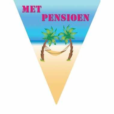 Feestversiering vlaggenlijn pensioen