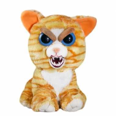 Feisty pets kat/poes knuffel oranje 20 cm