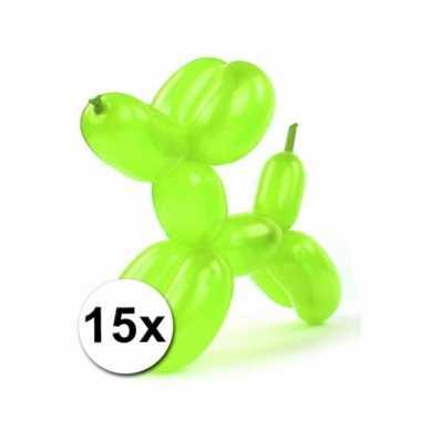 Fel gekleurde modelleerballonnen 15 stuks