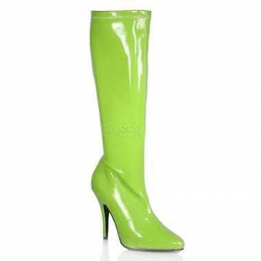 Fel groene laars voor dames