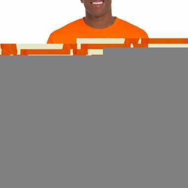 Fel oranje t-shirts lange mouwen top kwaliteit