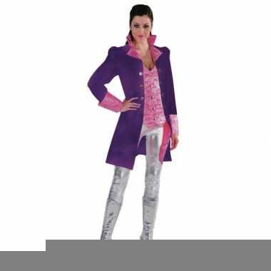 Fel paarse jas voor vrouwen