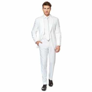 Fel wit kostuum pak voor heren
