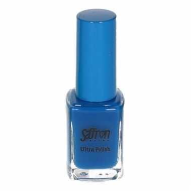Felblauw nagellak van saffron