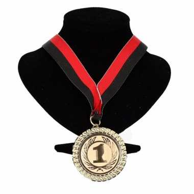Feyenoord kleuren lint nr. 1 medaille rood zwart