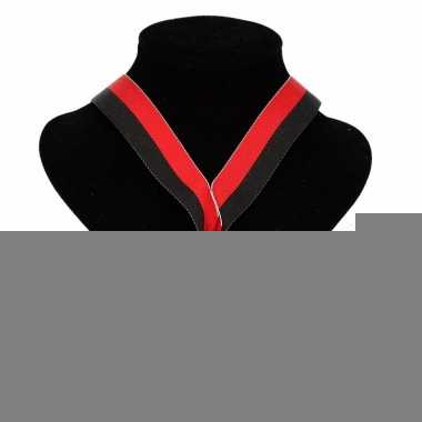Feyenoord kleuren lint nr. 2 medaille rood zwart
