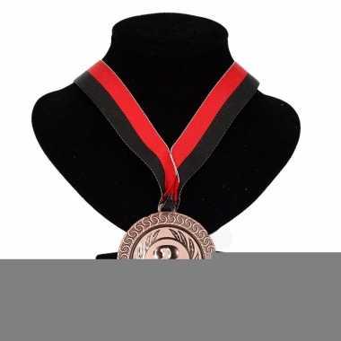 Feyenoord kleuren lint nr. 3 medaille rood zwart