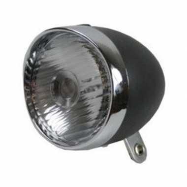 Fiets koplamp led zwart/zilver op batterijen