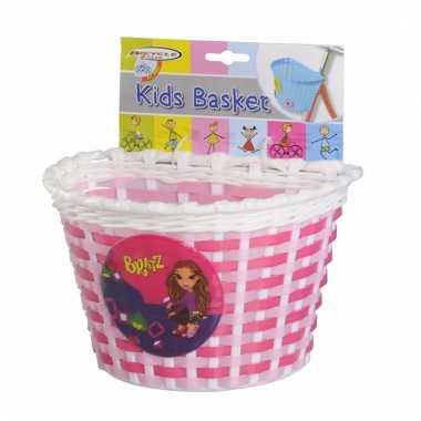 Fietsmandje roze 20 cm voor kinderen