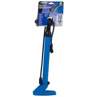 Fietspomp blauw dubbel ventiel