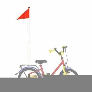 Fietsvlag in de kleur oranje