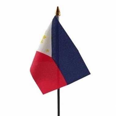 Filipijnen vlaggetje met stokje