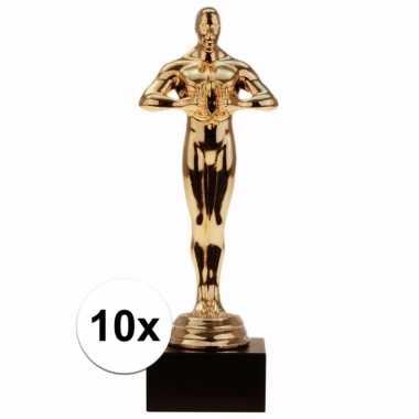 Filmthema award winnaars beeldjes 15 cm 10 stuks