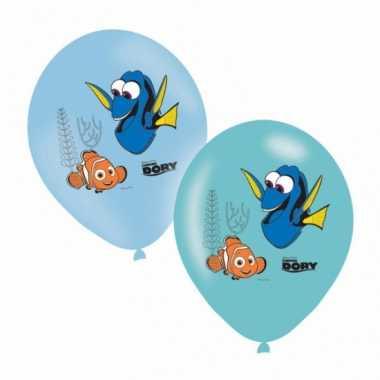 Finding dory ballonnen gekleurd 6 stuks trend