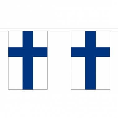 Finland vlaggenlijn van stof 3 m