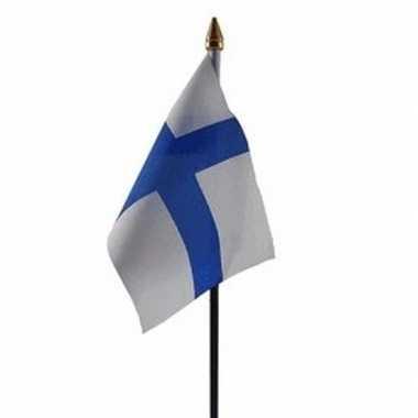 Finland vlaggetje met stokje