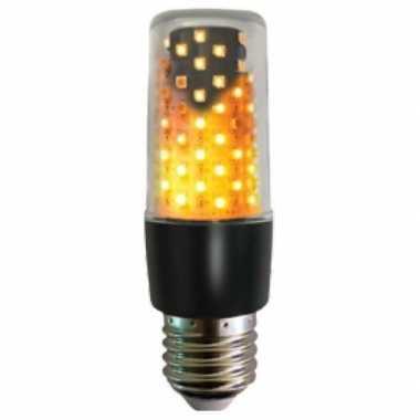 Firelamp e27 lampbolletje zwart met vlam effect
