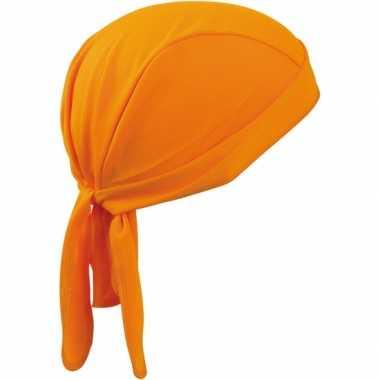 Fitness bandana oranje