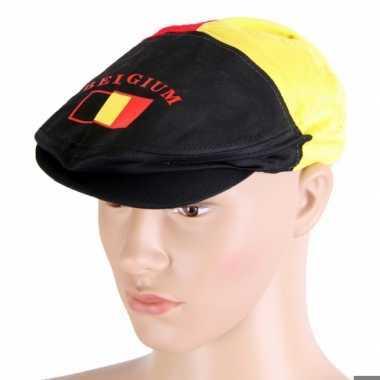 Flat cap belgische vlag