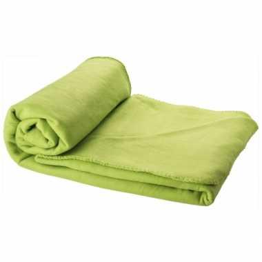 Fleece deken lime 150 x 120 cm