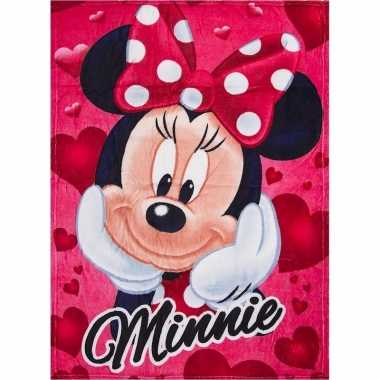 Fleece deken minnie mouse rood 90 x 120 cm trend