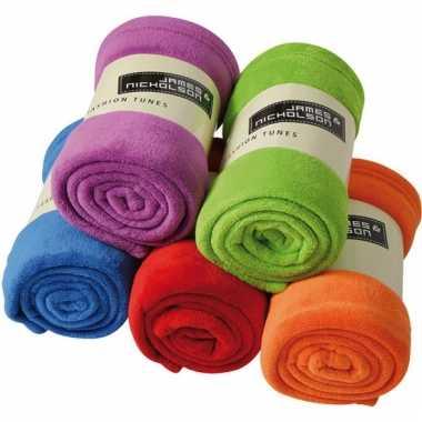 Fleece kleden in diverse kleuren