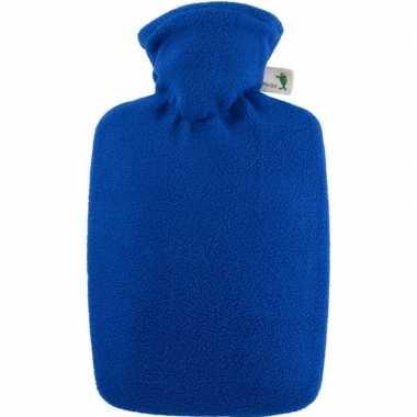 Fleece kruik blauw 1,8 liter met hoes