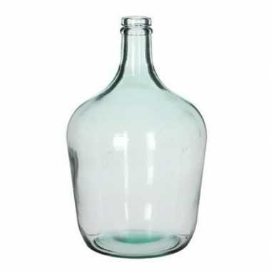 Fles vaas diego 18 x 30 cm transparant gerecycled glas