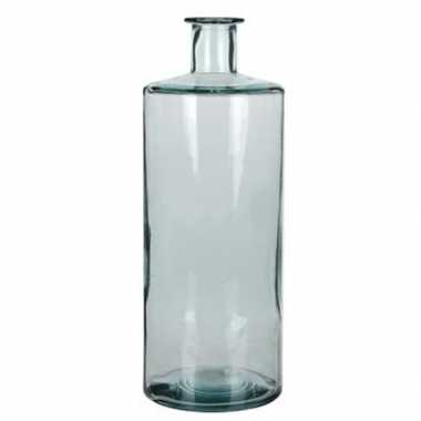 Fles vaas guan 15 x 40 cm transparant gerecycled glas
