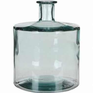 Fles vaas guan 21 x 26 cm transparant gerecycled glas