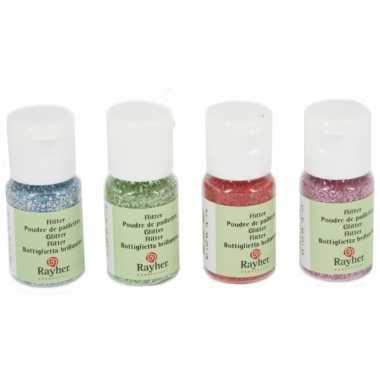Flesje groene hobby glitters 10 ml