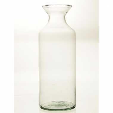 Flesvormige vaas glas 39 cm