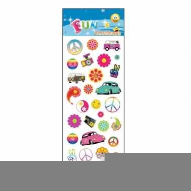 Flower power stickervellen