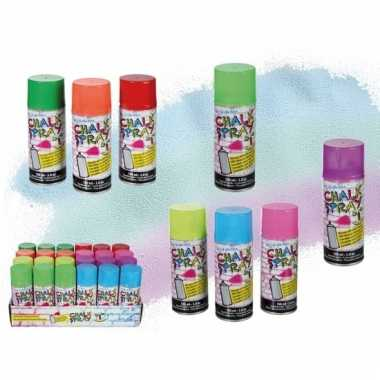 Fluorgele graffiti krijt spray 100 ml