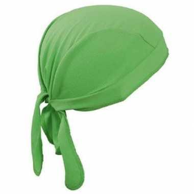 Fluoriserend groene sport bandana